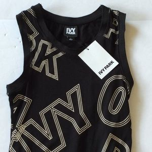 IVY PARK Tops - Ivy Park Stretch Logo Black Bodysuit Large